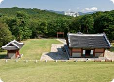 조선왕릉 위에서 바라본 이미지