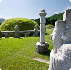 조선왕릉 측면에서 바라본 이미지